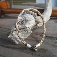 Braided Horsehair Bracelet - Rory and Wildfire 2 by TarpanBeadworks