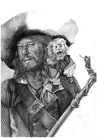 Captain Barbossa - WIP by katea