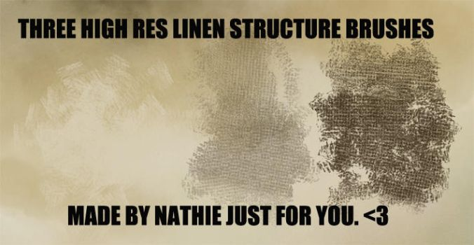 Linen Structure Brushes by nathies-stock