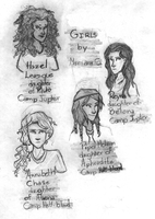 the girls of The Son of Neptune by Mariana-S
