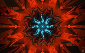 Blue Cubistic Star - Wide by Ingostan
