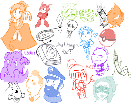 Discord Doodles (#1?) by RoxieTheDerp