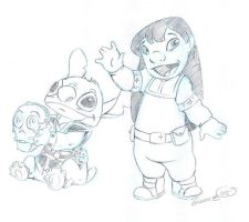 Star Wars Lilo and Stitch by DarthZemog