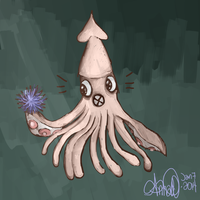 Mr. Squid and Mr. Urchin by Palindromee
