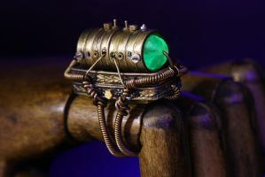 Steampunk Mad Scientist Cosplay Ring by CatherinetteRings