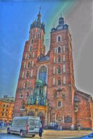 Mariacki Church in Cracow by osiolekpl
