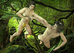 Lionel on D3 as Tarzan and Aiden on M4 14 by joekr9
