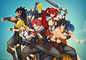 Fairy Tail Team by Lonewolf2592
