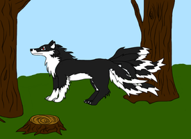 Nine tailed wolf by ColdBlod23