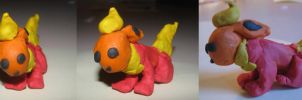 Flareon Clay figure by sammyslion