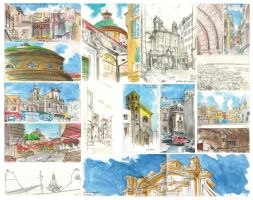 Urban sketching by Entropician
