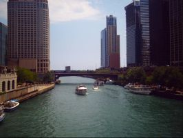 Chicago canal threw the city. by NationalMind