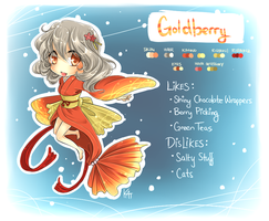 Mascot Entry: Goldberry by kittykatkanie