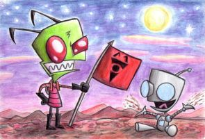Zim and Gir by Black-Charizard