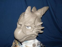 Dragon sculpt for latex slush by IAmArtSlave