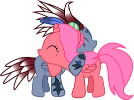 Sacred Bloom - Foal Hug by Creshosk