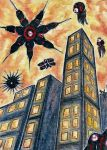 Attack of the Nevi [ACEO] by Vhalesa