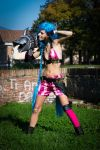 Jinx Cosplay @ Lucca Comics 2014 by FuckYeahJoanna