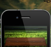 Dark Laminate Dock iPhone 4 by PhilDesire