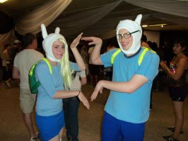 Finn and Fionna cosplay by asu-chan666