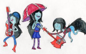 The three Marcelines by cosmosmetal