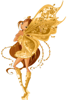Winx Club Gold Believex Flora! by AlexaSpears1333
