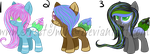 Set Price: Plant Ponies set 1 *1/3 OPENED* by FrostTwins