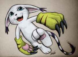 Digimon: Gatomon by Marshcold by neverb4