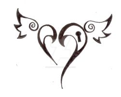 Heart Tattoo Design .:New:. by darkhuntress