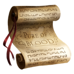 Pure of Blood Certificate by Reos-Empire