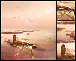 Golden Mermaid  Mosaic by RazielMB