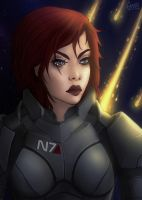 Commander Shepard by gabbiki