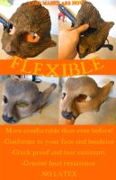 Big news for 2016! FLEXIBLE LARP MASKS by Magpieb0nes