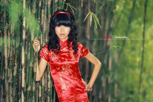 RED in BAMBOO by bwaworga