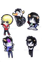 Homestuck Minis Sticker Sheet 1 by RyuBlu