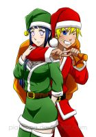 Merry NaruHina Christmas 2012 by Pia-sama