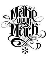 Make Your Mark (tee design) by nabafied