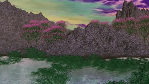 Valley of the Purple flowers by Topas2012