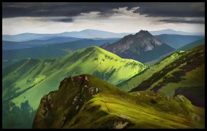 Grassy Mountains study by Elucidator