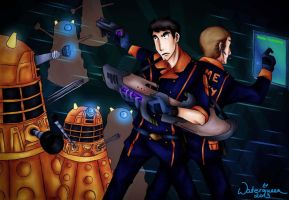 Holo-Training with Daleks by Waterqueen-san