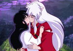 InuYasha and Kagome Kiss by Sunney90