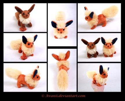 SOLD Plushie: Flareon Beanie (Pokemon) by Avanii