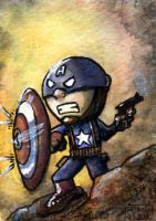 Captain America Sketch Card by geralddedios
