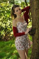 Peach - floral dress 1 by wildplaces