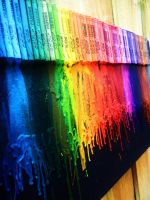 MELTED CRAYONS RAINBOW by HamysArt