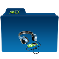 Music Folder Icon 4 by gterritory