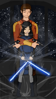 Revan+Carth Forever by myaen