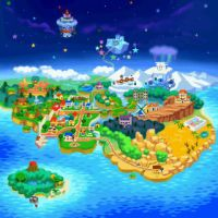 Paper Mario World Map by lightofhope1990