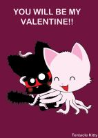 Tentacle Kitty V-Day Card 2 by TentacleKitty