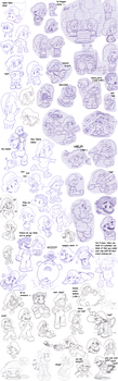 lots 'o Marios :v by Nintendrawer